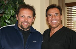 Kevin Chapman with Dr. Leonard