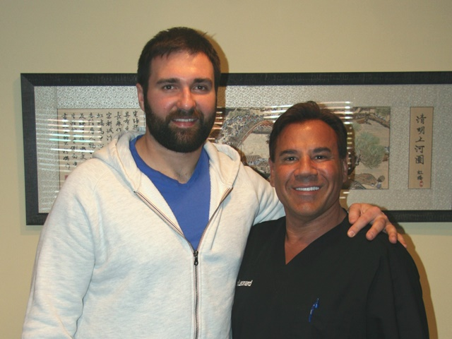 Ninkovich with Dr Leonard
